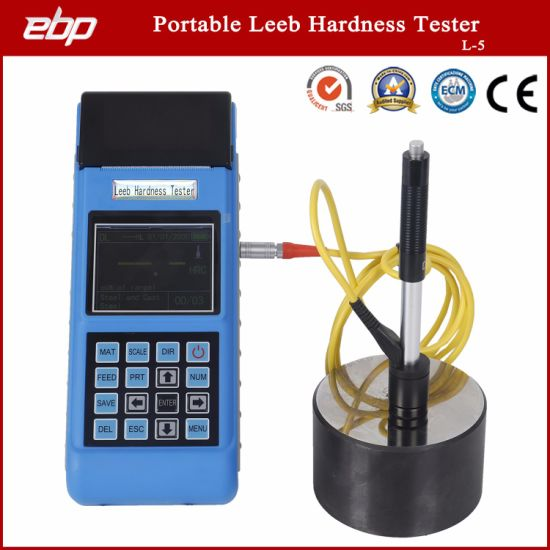 Portable Leeb Hardness Tester with Printer L-5