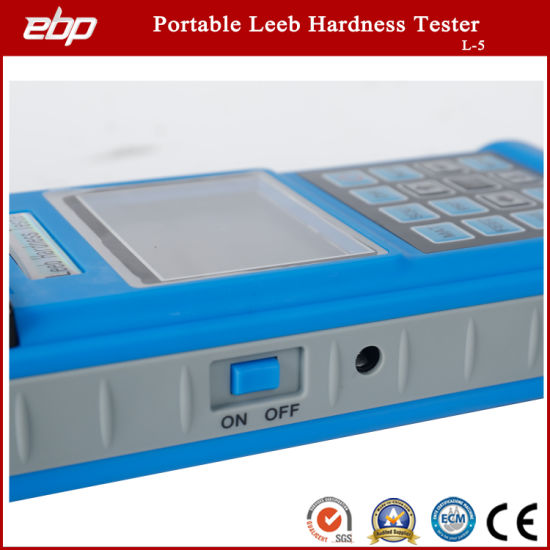 Portable Digital Rebound Leeb Hardness Testing Instrument with Printer L-5