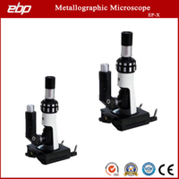 Portable Metallurgical Microscope with 10X Flat Field Eyepiece
