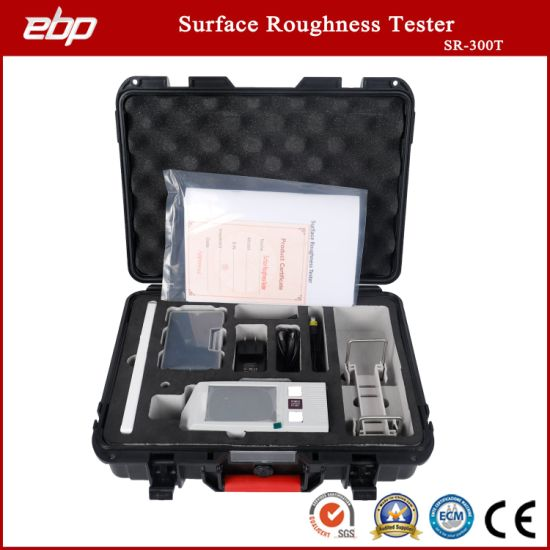 Portable Surface Roughness Tester with Roughness Comparison Block and Chart