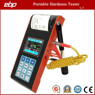 Color Screen Digital Portable Leeb Hardness Tester with Printer